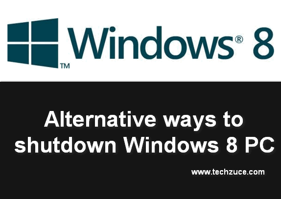 Alternative ways to shutdown Windows 8 PC