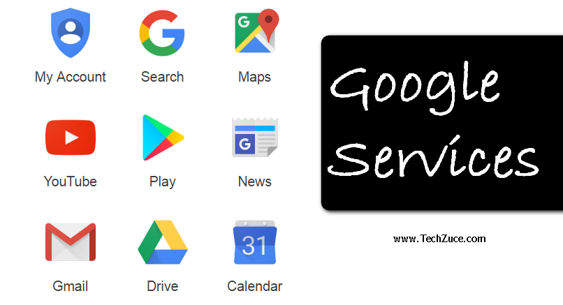 Google services: services presently run by Google