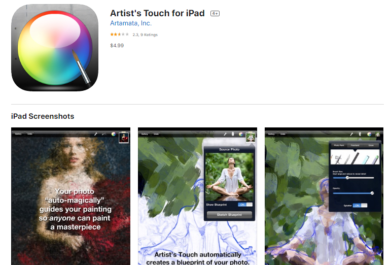 Description: Artist's Touch for iPad