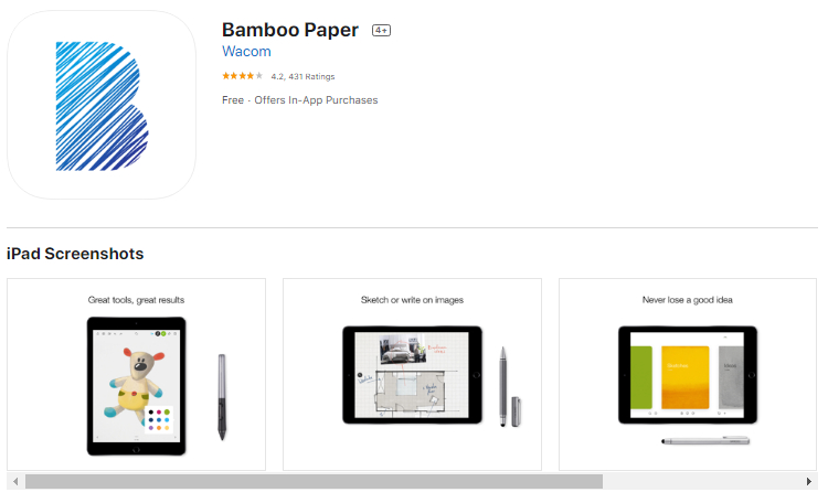 Description: Bamboo Paper for iPad