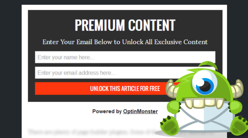 OptinMonster Content Lock