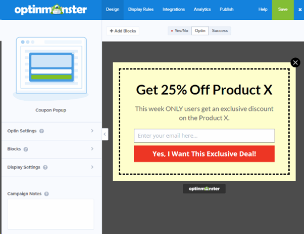 OptinMonster Coupon Pop-ups